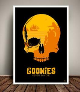 The Goonies 1980s Minimalist Movie Poster Unique Art Print gift home no frame