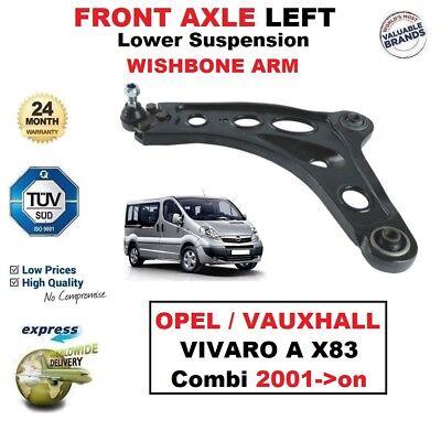 Eje Delantero Izquierda /& Derecho Wishbone Brazos Para Opel//Vauxhall Vivaro 1.6 CDTI 2014 />