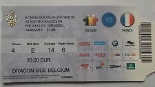 TICKET LS 14.8.2013 Belgien - Frankreich