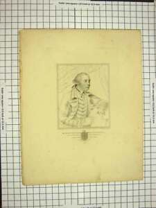 Original-Old-Antique-Print-C1790-C1900-Portrait-Richard-Gamon-Winchester-18th