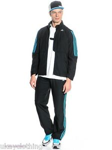Details about Adidas Climalite Woven Full Tracksuit Mens Gym Fitness Casual