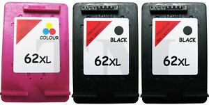 3-x-62-XL-Black-amp-Colour-Remanufactured-Ink-Cartridges-fits-HP-Envy-5646-Printer