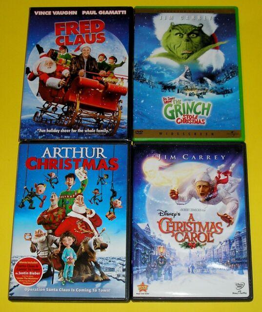 Holiday DVD Lot of 4 - Grinch Fred Claus Arthur Christmas A Christmas Carol | eBay