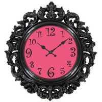 Hot Pink Victorian Wall Clock Teenage Girly Room Decor Baroque-style Design