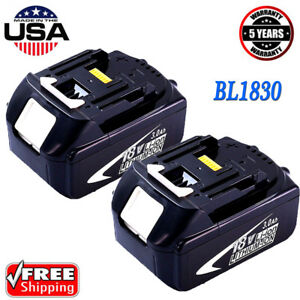 2x-18V-BL1830-2-for-Makita-18-Volt-BL1830-BL1850-1815-LXT-Battery-3-0Ah-Cordless