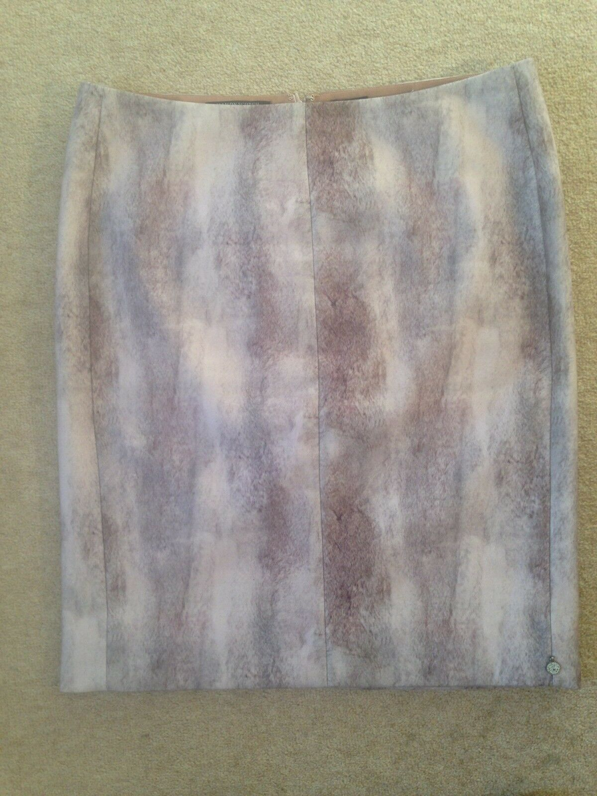 MAISON SCOTCH 'Boudoir' pencil skirt in hues of pink & brown New