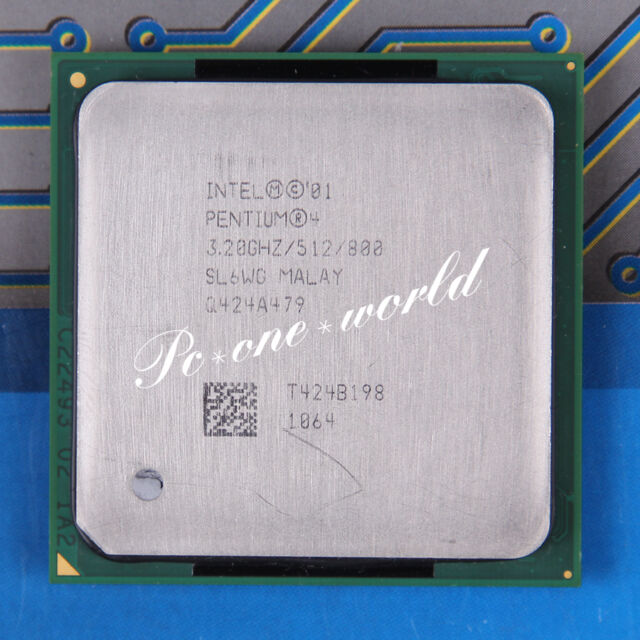 100% OK SL6WG SL6WE Intel Pentium 4 HT 3.2 GHz 512 800 MHz Processor CPU