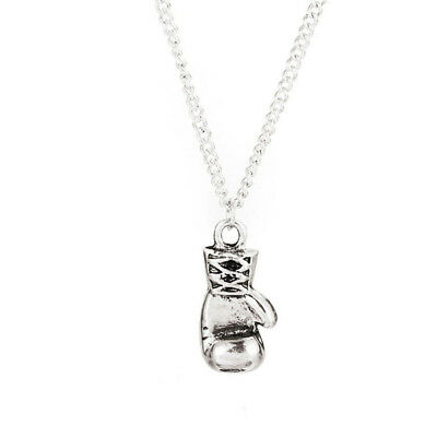 """Vintage Stainless Steel Rocky Boxing Glove Pendant Mens Necklace Chain 22/"""" Gift"""