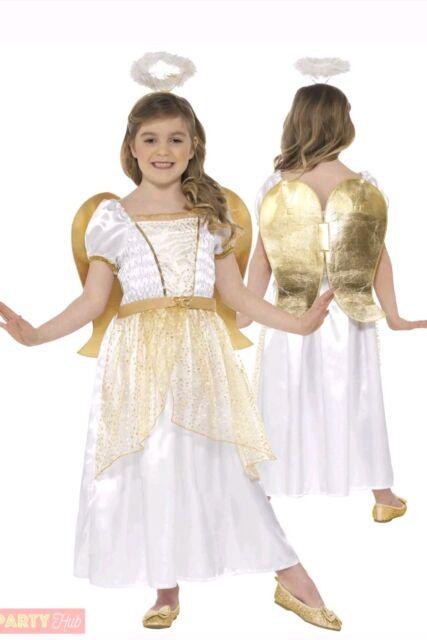 SMIFFYS Girls Angel Princess Costume Christmas Fairy Nativity Fancy Dress
