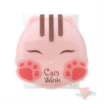 [TONYMOLY] Cats Wink Clear Pact 11g #2 Clear Beige Mild Sebum control Powder