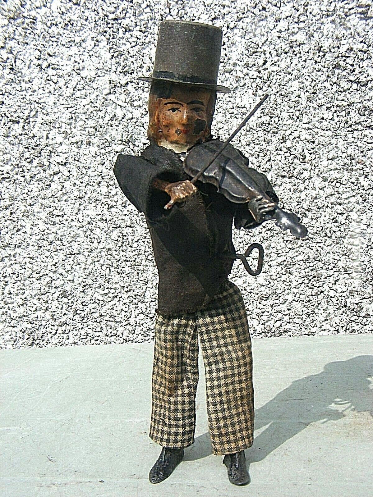 Antiguo Clockwork Hojalata Juguete Fernando Martin violinista temprano Modelo