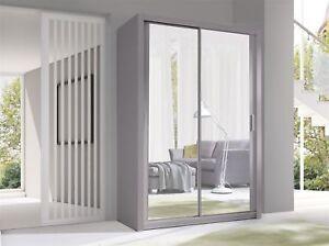 Armoire-avec-portes-coulissantes-Armoire-Palerme-Gris-Mat-miroir-150X215-CM