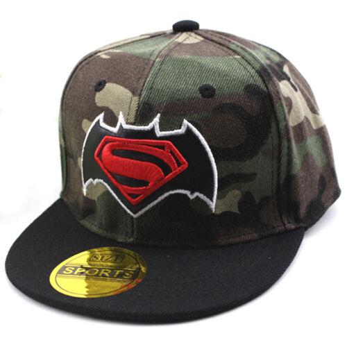 Kids Boys Cartoon Baseball Cap Superhero Batman Spiderman Snapback Sun Hat Hot y