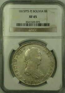 1815-PTS-PJ-Bolivia-8-Reales-Silver-Coin-NGC-XF-45