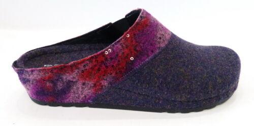 Rohde Clog Hausschuhe 6026 58 Filz Keil Absatz violett lila rot