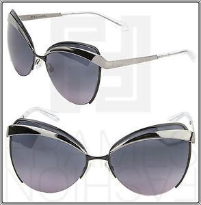 df1ccd5298a CHRISTIAN DIOR EYES 1 Gunmetal Dark Blue Cat Eye Sunglasses ...