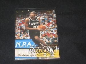 Tim Duncan Rookie 1997 98 Fleer Genuine Pack Pulled Certified