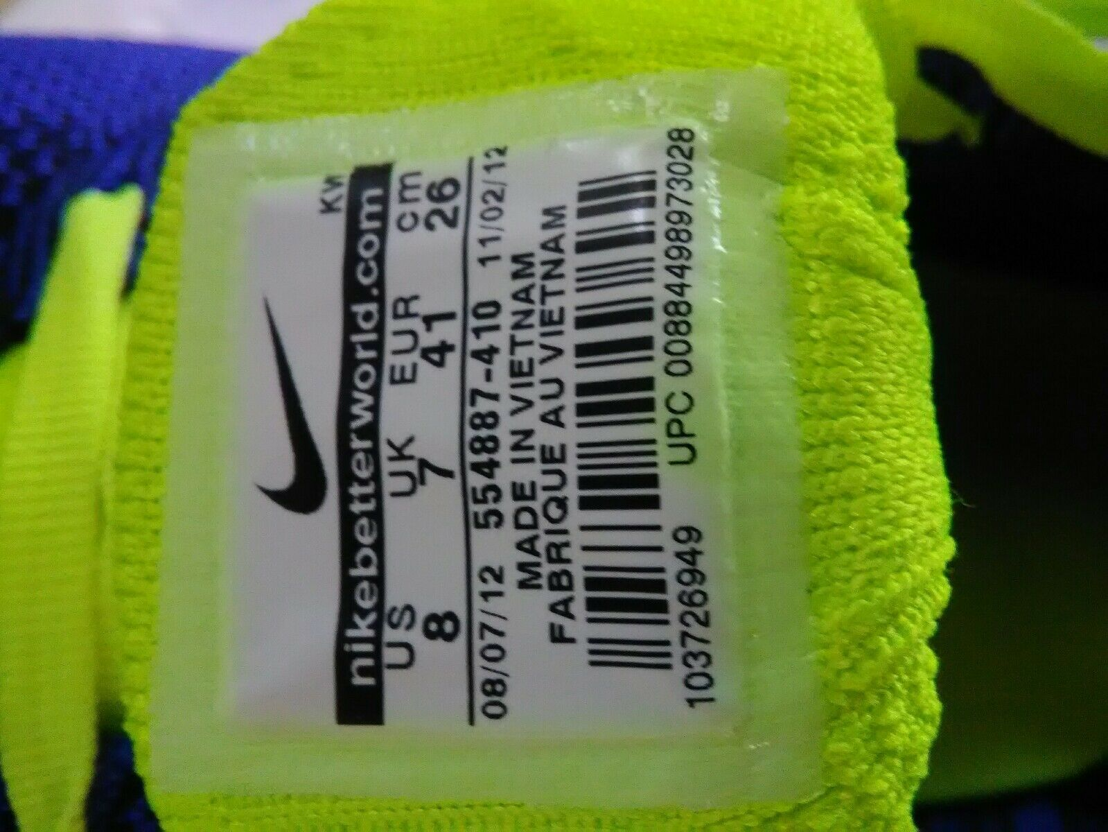 nike flyknit eine 1 größe - mens laufschuhe - größe 1 8 blaue neue 1b9464