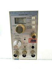 Rare Tektronix Plug In Sg 504 Sg504 Leveled Sine Wave Generator