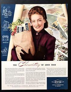 1941 Vintage Impresión Anuncio 12.2ms Dow Químicos Comestibles Enviar Woman