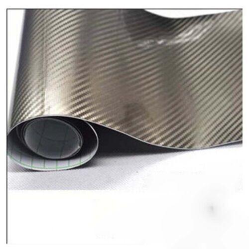 2D 3D Frosted 4D 5D Shiny Glossy Carbon Fiber Film Wrap Vinyl Decal Car Sticker