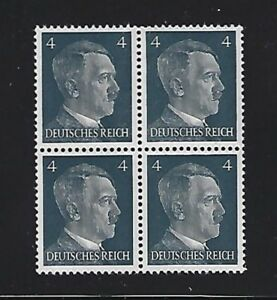 MNH  Adolph Hitler stamp block / 1941 PF04 / Original Third Reich era Germany