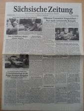 Sajona periódico 27. diciembre 1989 miércoles Dresden Sajonia dictador Ceaucescu