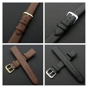 100% Genuine Leather Brown Black Watch Band Strap Men Women Watch Watches Band