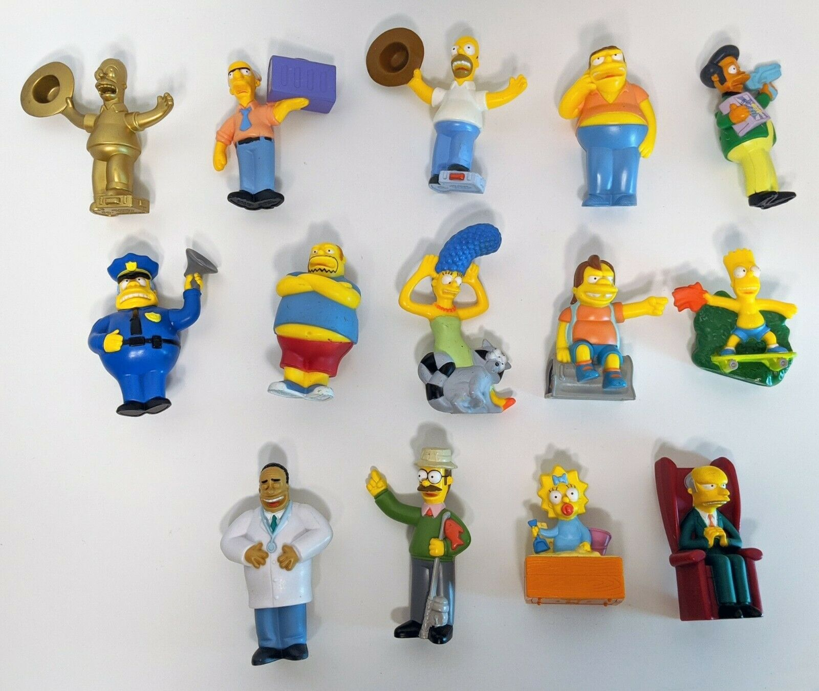 The Simpsons Movie Burger King 2007 Talking Toy Figures Lot Of 14 Free Ship Fast Food Toys