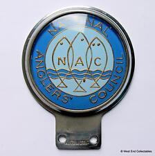 AUTOMOTIF Vintage Car Badge - National Anglers' Council - Fishing Auto Mascot