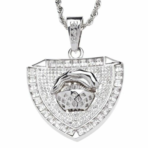 Iced out bling cadena-baloncesto Star