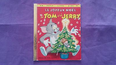 """Alte Buch """"die Joyeux Weihnachts Bücher Von Tom Und Jerry » 1977 Guter Zustand"""