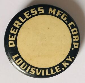 Peerless-MFG-Corp-Louisville-KY-Bastian-Bros-Retro-Pin-Badge-Rare-Vintage-R6