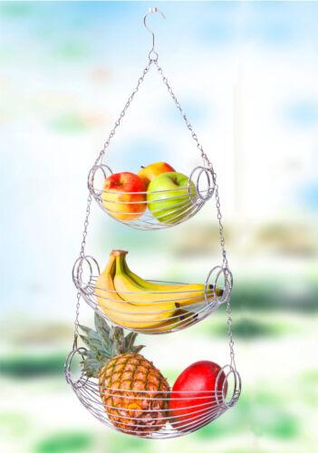 Obstkorb Hängekorb Gemüseampel Hänge-Etagere Gemüse-Korb Hänge-Regal