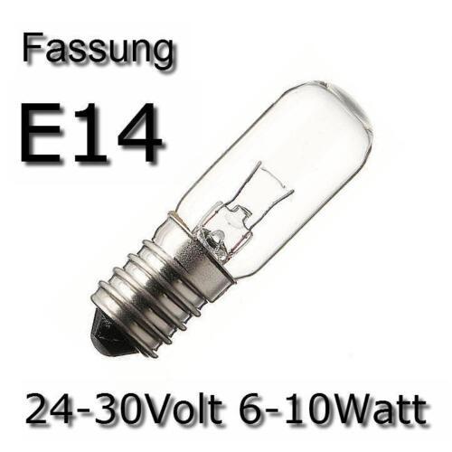 3x ampoule ampoule lampe tube spécial de rechange e14 24-30v 6-10w 275421