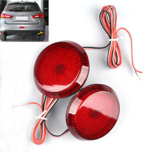 LED-Rear-Bumper-Reflectors-Tail-Stop-Brake-Red-Light-For-NISSAN-QASHQAI-07-15