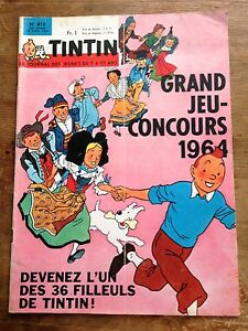journal-tintin-france-810-1964-couverture-Herge-avec-cheque-tintin
