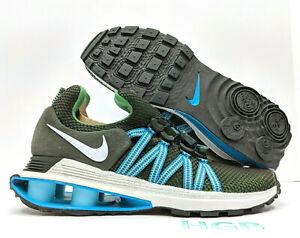 Nike-Shox-Gravity-Mens-Sequoia-Green-Blue-White-Running-Training-AR1999-300-NIB