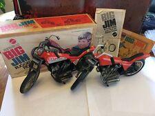 Vintage Mattel Big Jim Rugged Rider Motorcycles Lot Box Instructions Comic