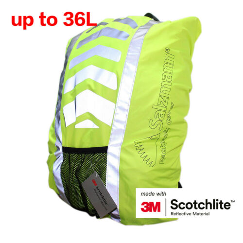Salzmann 3M Scotchlite Reflective Waterproof Backpack Rucksack Bag Rain Cover UK