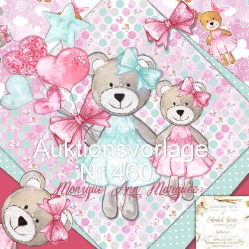 ❀ Auktionsvorlage Teddy RES ❀ Baby Kinder Handarbeit ❀ Vorlage Template |460