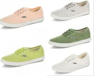 stylish womens canvas lace up casual sneakers tennis flats