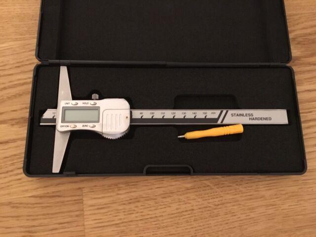 Digital Tiefenmessschieber 150 X 100mm 0,01 Tiefenmaß Messschieber 3 Volt
