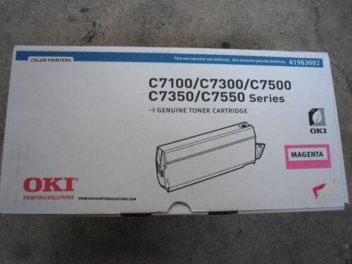 New Genuine Okidata C7100 C7300 C7500 C7350 C7550 Magenta Toner 41963002
