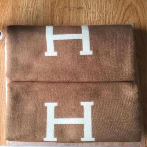 H-Blanket Wool Cashmere Throw Cape Scarf Car Travel Home Bedding Fashion