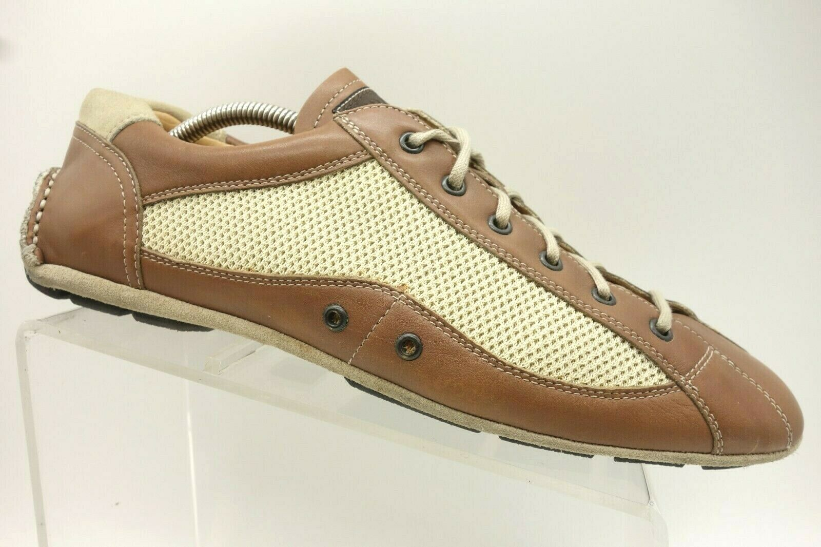 Prada Brown Leather Lace Up Driving Fashion Oxfords shoes Mens 10.5 UK   US 11.5