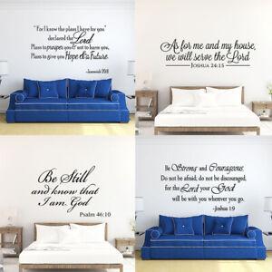 Bible Verse Wall Decals Quote Vinyl Wall Stickers Art Scripture Bedroom Decor Ebay