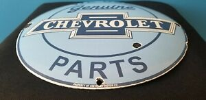 VINTAGE-CHEVROLET-PORCELAIN-GAS-TRUCKS-SERVICE-SALES-DEALERSHIP-DOME-PARTS-SIGN