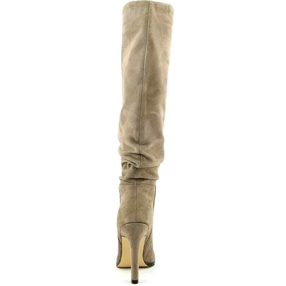 Ivanka Trump Ellis Knee High Grau Suede Lesather Pull On NEW Ruched Stiefel SZ 8 NEW On ee29a5