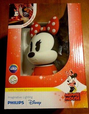 Phillips SoftPal LED Portable Rechargeable Night Light Friend Disney Minnie NIB